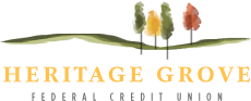 Heritage Grove Federal Credit Union logo on mobile
