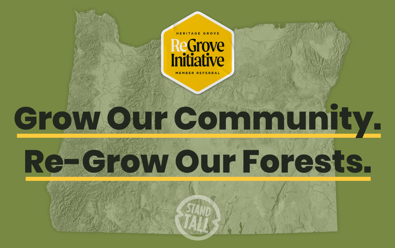 Grow our community. Re-grow our Forests.
