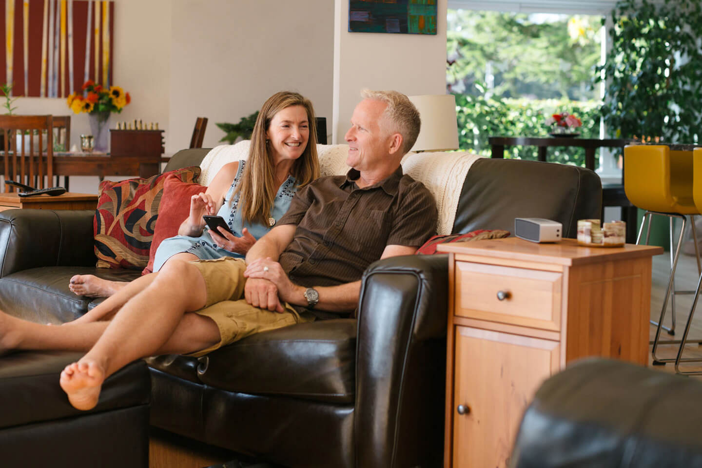 older couple in living room