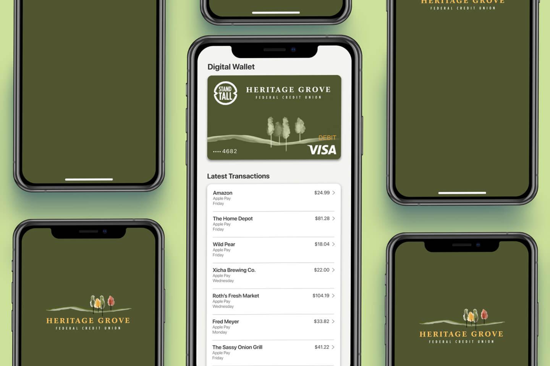 Heritage Grove digital wallet (desktop)